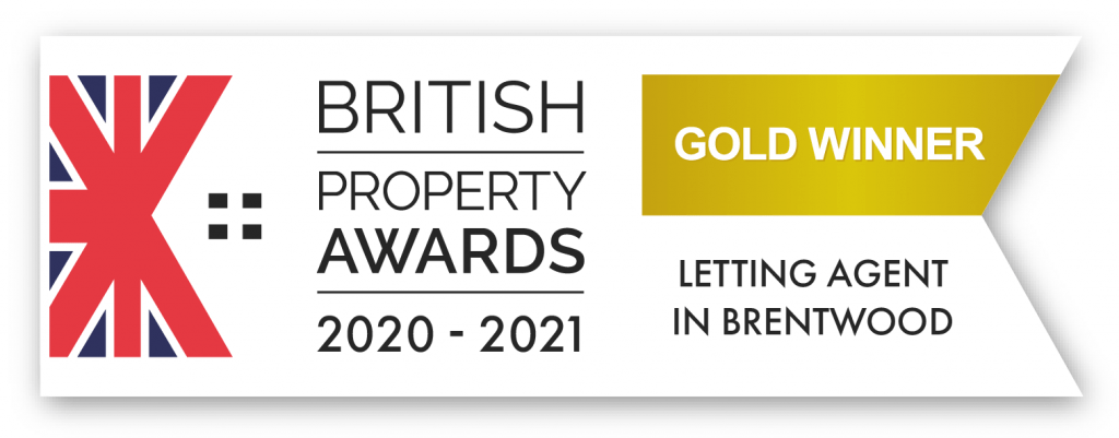 Gold Winner letting agent Brentwood logo