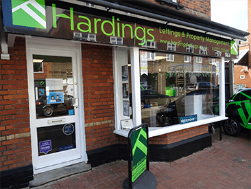 Hardings Lettings shop front Brentwood