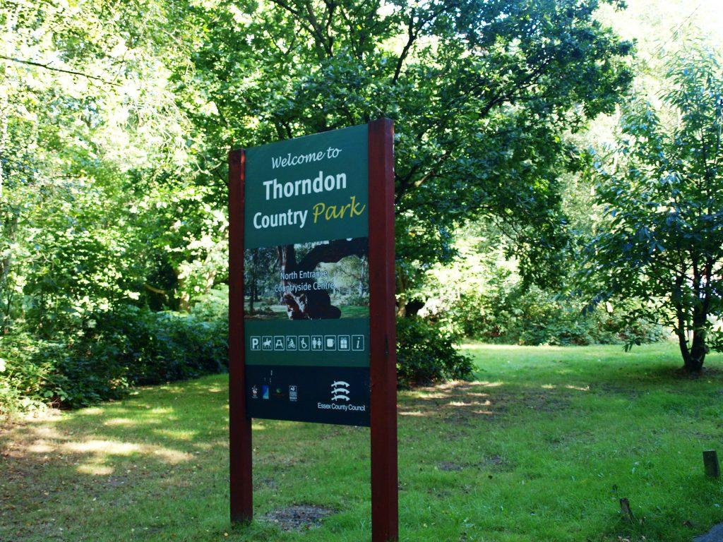 Thorndon Country Park sign